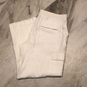 Claiborne white draw string pants. Large